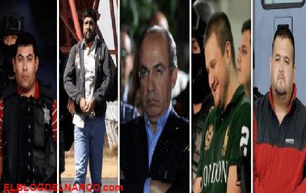 Calderón ahora teme por su vida, Estos son los Narcos más peligrosos que cayeron en la supuesta guerra contra el narco...