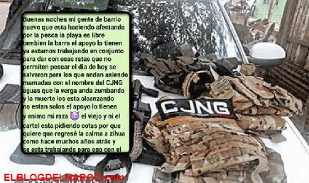 CJNG amenaza a mañosos por utilizar su nombre y desatar el terror en su plaza