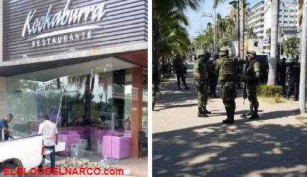 Comando armado rafaguea exclusivo restaurante de Acapulco frente a turistas (IMÁGENES)