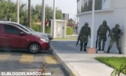 Cártel del Noreste se atrinchera en edificio de gobierno para enfrentar a soldados (VÍDEO)