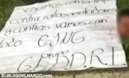 En Morelia el CJNG sigue cazando a Rateros, Violadores y Contras, así dejaron a este sujeto...
