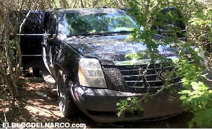 Estatales Encuentran vehículos con blindaje y armas en brecha de San Fernando