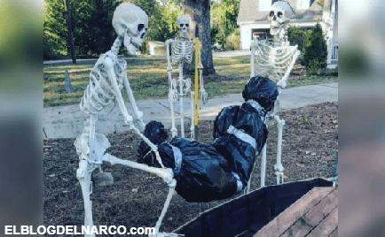 Mexicana decora su casa para Halloween al 'estilo narco' y enfurece a sus vecinos...