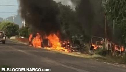 Sicarios del CJNG emboscan brutalmente a Policías en Michoacán y dejan Narcomensaje (Fotos)