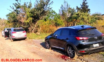 Hallan a tres camionetas con 7 hombres ejecutados en camino de terracería en Tonalá, Jalisco (Fotos)