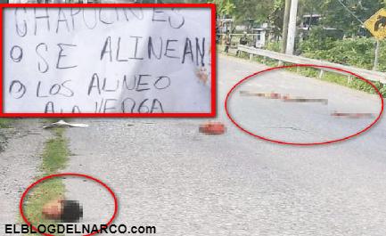 Sicarios dejan regado un cuerpo destazado junto a narcomensaje en Tlaltizapán