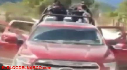 Con el tiro arriba sicarios del CDS se graban trepados en trocas y demostrando su poderío en Durango