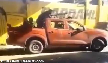Vídeo en donde Sicarios del Cártel de Sinaloa se muestran con armas larga en Zacatecas