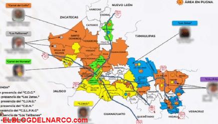 Al menos seis grupos del narco operan en San Luis Potosí