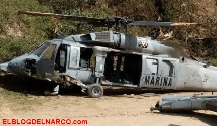 Así fue el momento en que un helicóptero Black Hawk de la SEMAR se desplomó en Tehuipango, Veracruz, dejo un oficial muerto y 9 heridas
