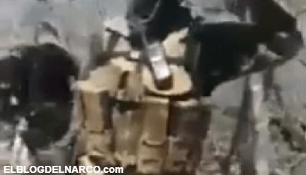CJNG se burla de La Familia Michoacana tras encontrar trinchera con bombas 'piratas' y latas de sardina (VÍDEO)