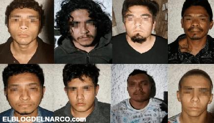Capturan en Cancún a 10 Sicarios del Cártel Jalisco Nueva Generación