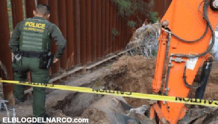 Encuentran narcotúnel que pasaba por debajo de muro fronterizo en Arizona