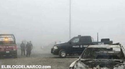 Federales de camino son desmembrado y quemados sus unidades por sicarios