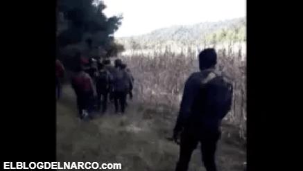 Pelotón del Cártel de Los Viagras recorren su territorio para evitar la visita del CJNG (VÍDEO)