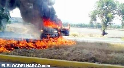 Reportan mas narcobloqueos y el incendio de algunos vehículos en Guanajuato