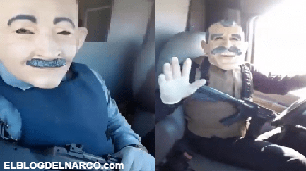 Tras fuertes balaceras en Culiacán, sicarios con máscaras de políticos se graban trepados en una camioneta robada