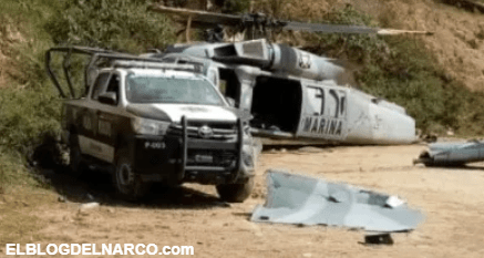 Vídeo del Momento exacto en que helicóptero de soldados mexicanos se desploma