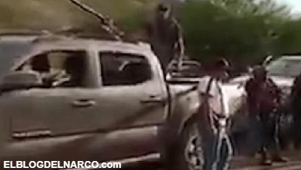 El vídeo inquietante de un convoy de la Familia Michoacana en donde amenazan a uno de sus rivales