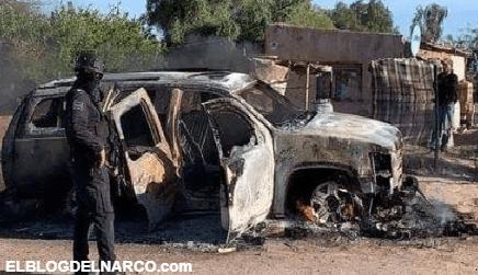 Narcos se enfrentan en Sonora, encuentran las trocas abandonadas, baleadas y quemadas