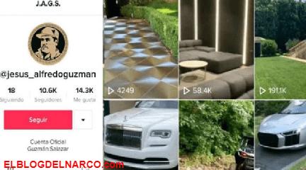 VÍDEO: Alfredo Guzmán el hijo de 'El Chapo' presume sus autos de lujo y mansiones por TikTok