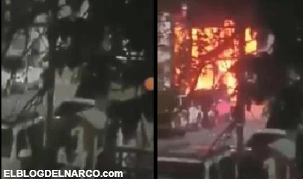 Vídeo donde Cartel del Noreste incendia patrulla de Estatales en venganza por la muerte del Pinpon