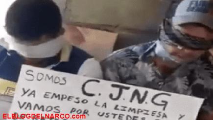 Vídeo donde gente del Mencho interroga a pistoleros rivales de La Familia Michoacana