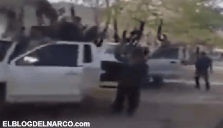 Vídeo donde la Familia Michoacana le envíamensaje a los del CJNG tras ganarles en una emboscada