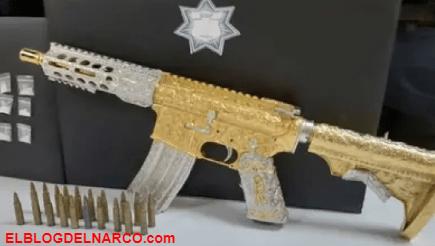 """""""Las Bigotonas"""", la grupo criminal del narco que usa rifles bañados en oro y diamantes"""
