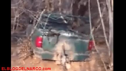 Vídeo de una camioneta con bomba, así inician el narco-terrorismo miembros de el CJNG