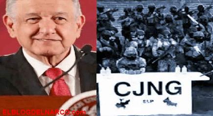 """AMLO reconoció cooperación en la operación """"Agave Azul"""" que golpeó las finanzas del CJNG"""