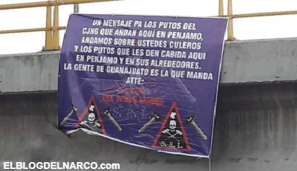 """FOTOS """"El Marro"""" deja narcomensajes de advertencia al CJNG de """"El Mencho"""" en Guanajuato"""