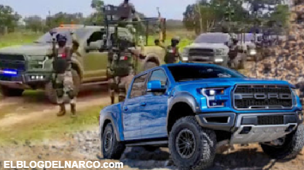 Así son las camionetas 'militares' del Cártel Jalisco Nueva Generación, Blindadas y armadas
