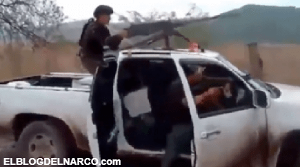 VÍDEO Con camioneta artillada con un calibre .50 el CJNG enfrenta a Cárteles Unidos en Michoacán