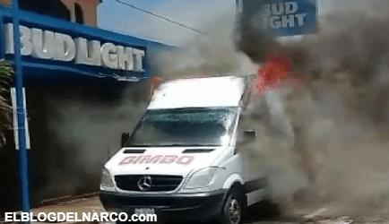 VIDEO Cartel del Noreste rafaguea instalaciones de Grupo Bimbo e incendia 3 de sus camiones