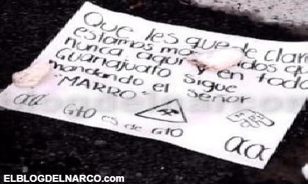 """""""En Guanajuato sigue mandando el Señor Marro"""", es el mensaje que han dejado en 3 cuerpos"""
