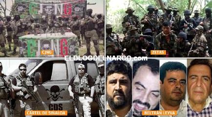 El CJNG y Cártel de Sinaloa, 2 organizaciones criminales dominan el mapa del narco en México