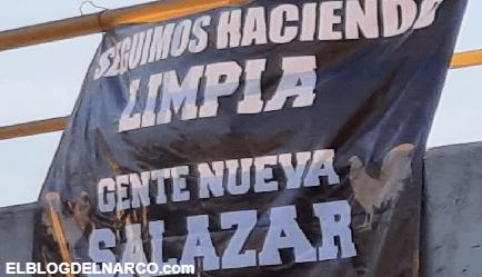 El grupo Gente Nueva de los Salazar del Cártel de Sinaloa cuelga Narcomanta en Guanajuato