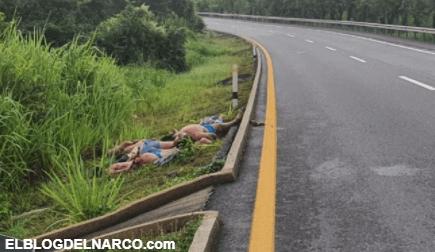 IMÁGENES Lanzan cuerpos de 6 personas ejecutadas en el corredor del 'huachicol' de 'El Kalimba'