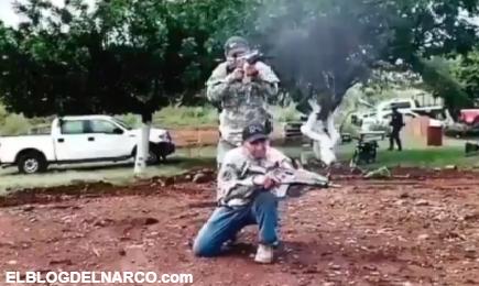 El Cartel del Noreste difunde video en cámara lenta de sus pistoleros disparando