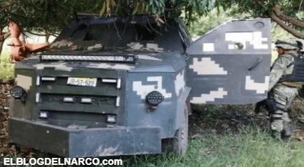 Fotos de los Camiones Monstruo blindados del Grupo Elite del CJNG asegurados en Michoacán