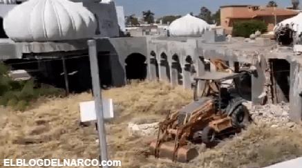 """VIDEO Así es la majestuosa casa árabe del """"Señor de los Cielos"""" que será demolida"""