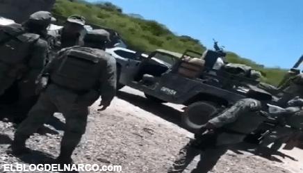 Difunden VIDEO de la reunión de sicarios de los Chapitos con militares mexicanos