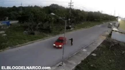 Video donde captan a sicarios ejecutando a el jefe de custodios de cárcel de Cancún