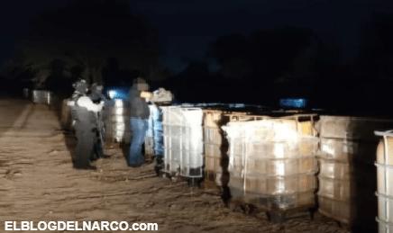 Le tumban a los Chapitos 200 mil litros de precursores Químicos en Culiacán, Sinaloa