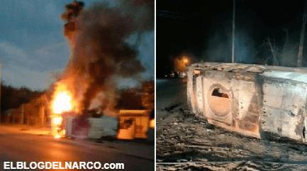 Sicarios del CDN emboscan a Policías quienes repelieron la agresión les quemaron un camión monstruo y los hicieron correr