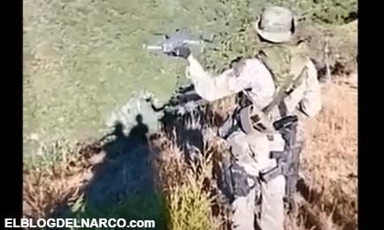 VIDEO Sicario del Mencho y el Cártel Jalisco Nueva Generación usan dron con explosivos