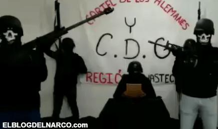 Video donde el Cártel del Golfo y de los Alemanes amenazan a policías, militares y a gobernador