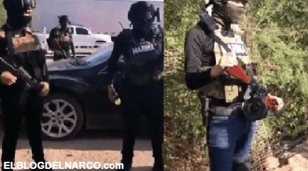 """Así patrullan """"Los Ninis"""" con impunidad y vestidos como soldados los soldados de Alfredo Guzmán"""