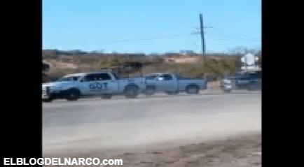 Así agarraron a sicarios, policías les ponchan llantas de troca y aún así intentaron escapar (VIDEO)
